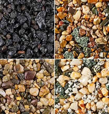 Resin gravel or aggregate resin bound